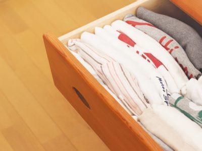 衣替え タンス 収納されたTシャツ