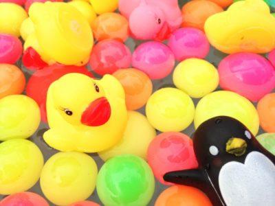 水遊び 1歳児 スーパーボール あひる ペンギン