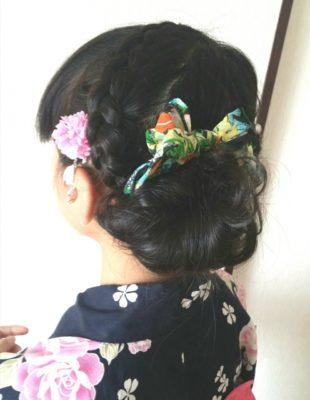 祭り 髪型 子供 浴衣