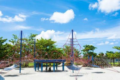 大横川親水公園 水遊び場 複合遊具