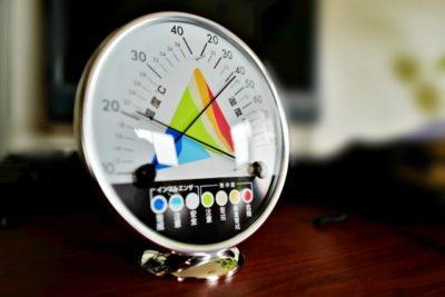 衣替え 雨の日 温度計