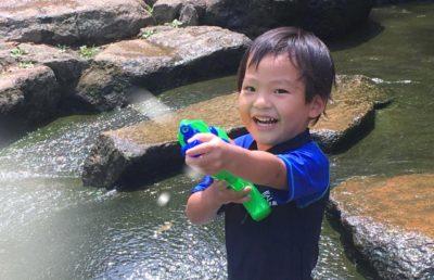 水遊び 9月 東京 水鉄砲
