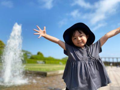 水遊び 宇都宮 公園 噴水 女の子