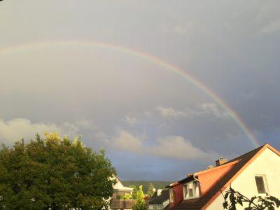 ドイツ 村 千葉 水遊び 虹