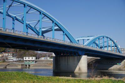 多摩川 自転車 フリーマーケット 橋