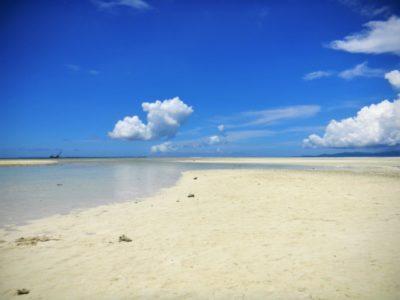 沖縄 潮干狩り マテ貝 白い砂浜