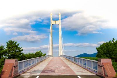 潮干狩り 石川県 内灘 橋