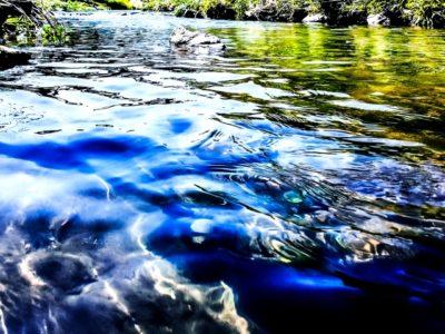 岐阜県 川遊び 飛び込み 川の流れ