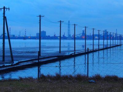 潮干狩り 福岡 夜の海