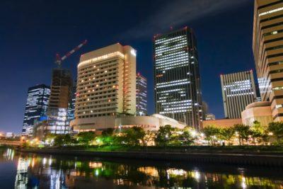 大阪城公園 フリーマーケット 夜景