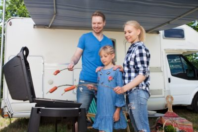 3人家族 キャンプ ブログ バーベキュー