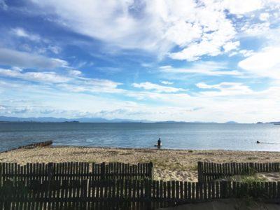 津屋崎 潮干狩り 場所 青空と海