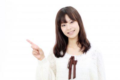 岡山 フリマ ハンドメイド 案内する女性