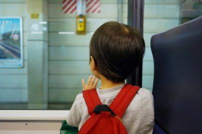 新幹線 大人 1人 子供 2人 自由席 外を眺める