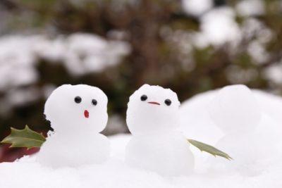 裏磐梯スキー場 子供 雪だるま