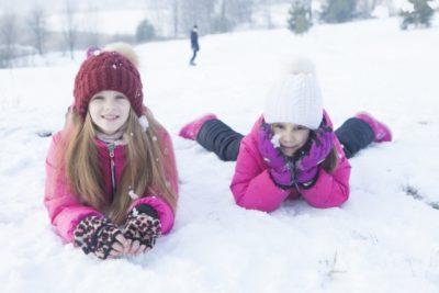 宮城県 スキー場 子供 姉妹