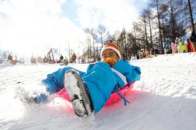 宮城県 スキー場 子供 ソリ