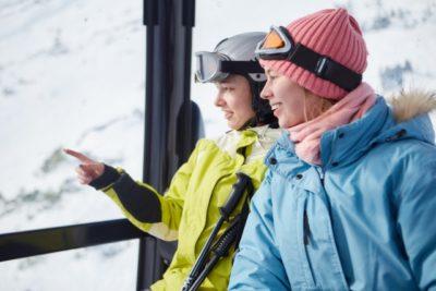 蔵王温泉スキー場 子供 ゴンドラ