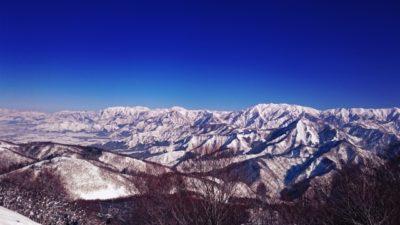 越後湯沢 スキー場 子供 山脈