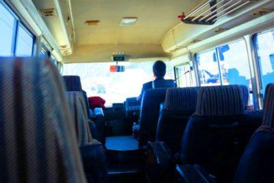 ディズニーランド バス 子供 車内