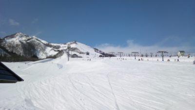 越後湯沢 スキー場 子供 雪山