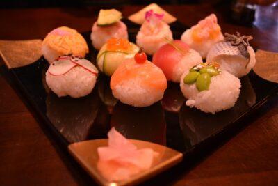 ひな祭りご飯 子供(向け)(料理)(メニュー)(レシピ)(人気)てまり寿司