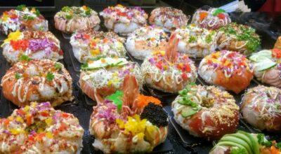ひな祭りパーティー メニュー(料理)(献立) 寿司ドーナツ