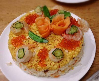 ひな祭り献立 子供 寿司ケーキ