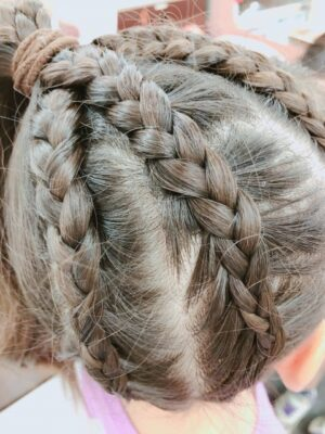 ひな祭り 髪型 子供 編み込み