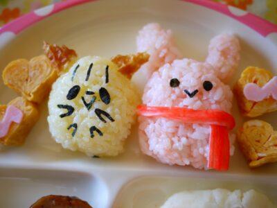 ひな祭り ご飯 2歳(メニュー)(献立)(料理)おにぎり