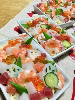 ひな祭りパーティー画像 ちらし寿司