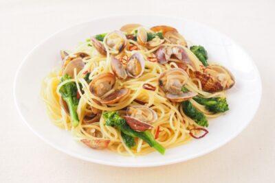 ひな祭り 洋風メニュー(レシピ)はまぐりのペペロンチーノ