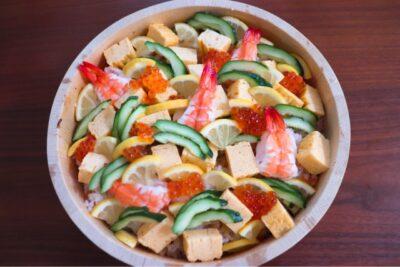 お雛様 ちらし寿司 レシピ 人気(メニュー)海鮮ちらし寿司