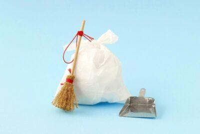 新学期 部屋の片付け ゴミ袋