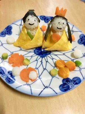 ひな祭り ご飯 2歳(メニュー)(献立)(料理) お雛様