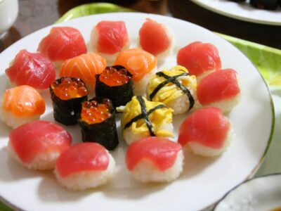 ひな祭りご飯画像(料理)てまり寿司