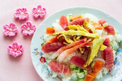 ひな祭りパーティー ブログ まとめ ちらし寿司
