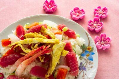ひな祭り 夕飯 献立 ちらし寿司 定番